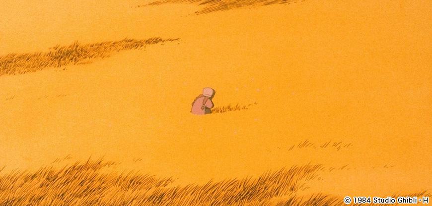 風の谷のナウシカのワンシーン
