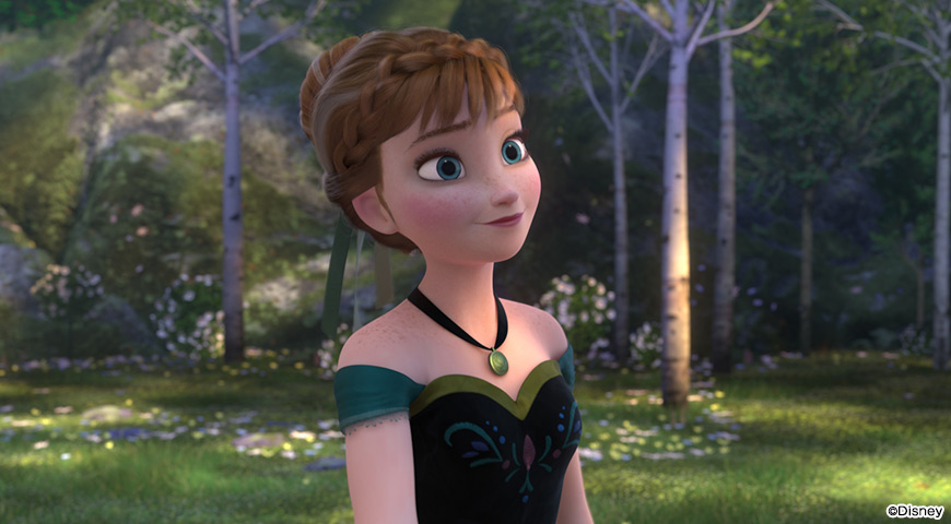 アナと雪の女王のワンシーン