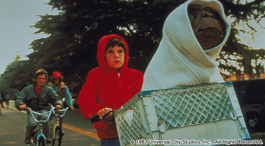 E.T.のワンシーン