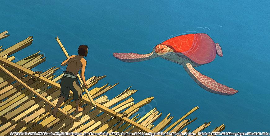 レッドタートル ある島の物語のワンシーン