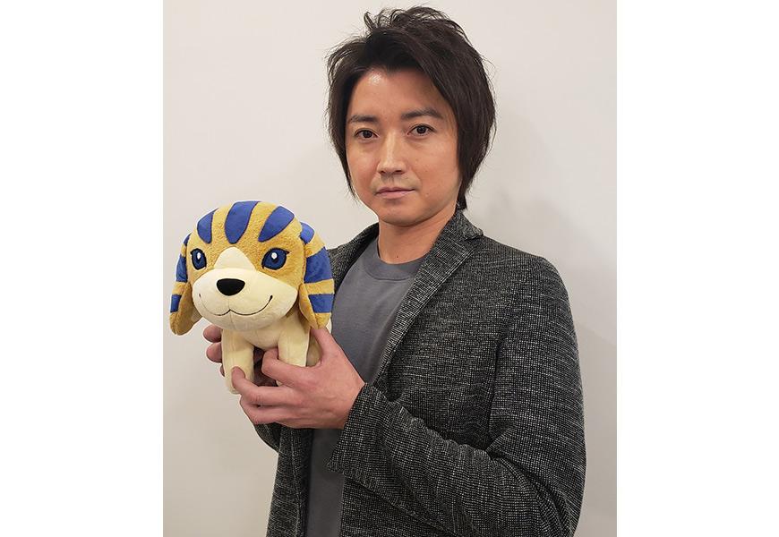 藤原竜也さんと番組キャラクターアンク